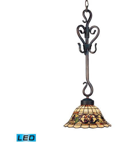 Titan Lighting Tiffany Buckingham 4 Light Ceiling Mount: ELK 369-VA-LED Tiffany Buckingham LED 10 Inch Vintage