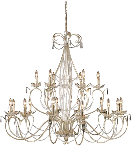 ELK Lighting Madison 18 Light Chandelier in Silver Leaf 3736/12+6 photo