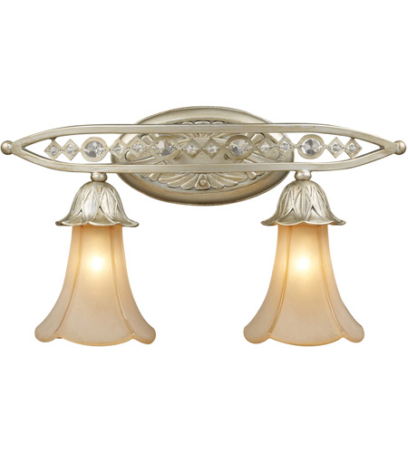 ELK 3820/2 Chelsea 2 Light 20 inch Aged Silver Vanity Wall Light photo