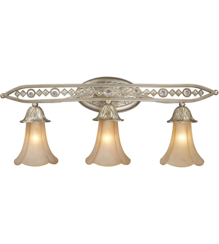 ELK 3821/3 Chelsea 3 Light 30 inch Aged Silver Vanity Wall Light photo