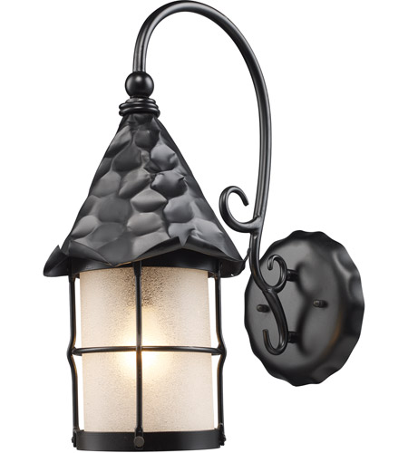 ELK Lighting Rustica 1 Light Outdoor Sconce in Matte Black 385-BK photo