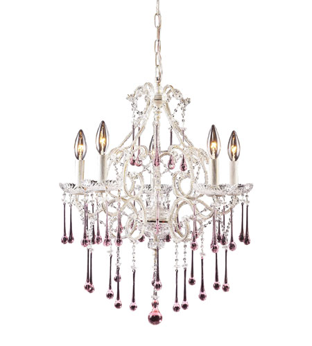 ELK Lighting Opulence 5 Light Chandelier in Antique White 4002/5RS photo