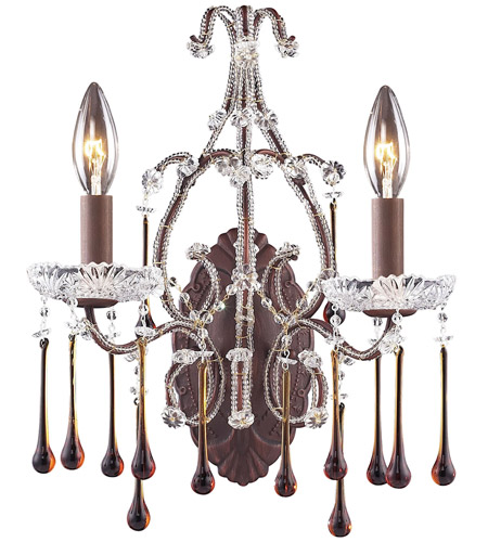 ELK Lighting Opulence 2 Light Sconce in Rust 4010/2AMB photo