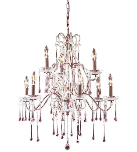ELK Lighting Opulence 9 Light Chandelier in Rust 4013/6+3RS photo