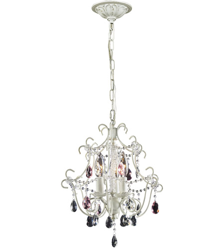 ELK 4041/3 Minique 3 Light 13 inch Antique White Chandelier Ceiling Light  in Standard - ELK 4041/3 Minique 3 Light 13 Inch Antique White Chandelier