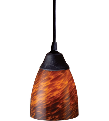 ELK Lighting Classico 1 Light Pendant in Dark Rust 406-1ES photo