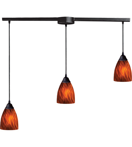 ELK Lighting Classico 3 Light Pendant in Dark Rust 406-3L-ES photo