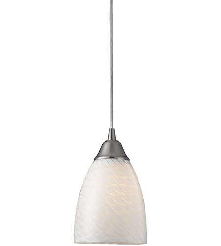 Satin Nickel Metalglass Pendants