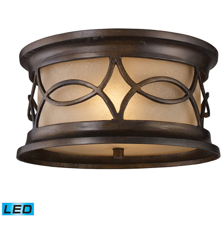 ELK 41999/2-LED Burlington Junction LED 12 inch Hazelnut Bronze Outdoor Flush Mount photo