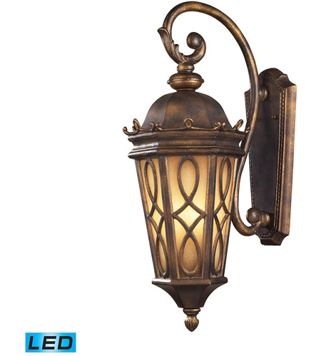 ELK Lighting Burlington Junction 3 Light Outdoor Wall Sconce in Hazelnut Bronze 42002/3-LED photo
