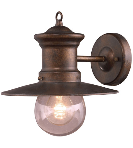 ELK 42005/1 Maritime 1 Light 10 inch Hazelnut Bronze Outdoor Sconce photo