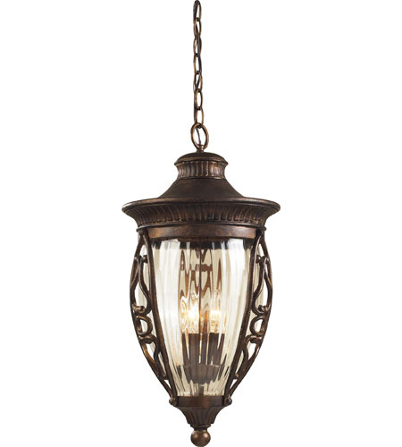 ELK Lighting Essex Way 3 Light Outdoor Pendant in Hazelnut Bronze 42023/3 photo