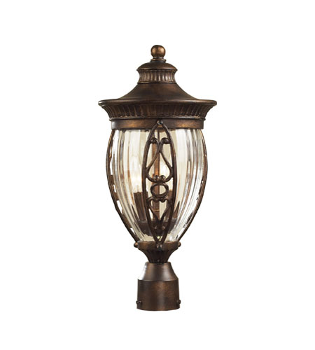 ELK Lighting Essex Way 2 Light Outdoor Post Light in Hazelnut Bronze 42024/2 photo