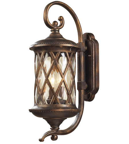 elk 420312 barrington gate 2 light 24 inch hazelnut bronze outdoor sconce - Outdoor Sconce Lighting