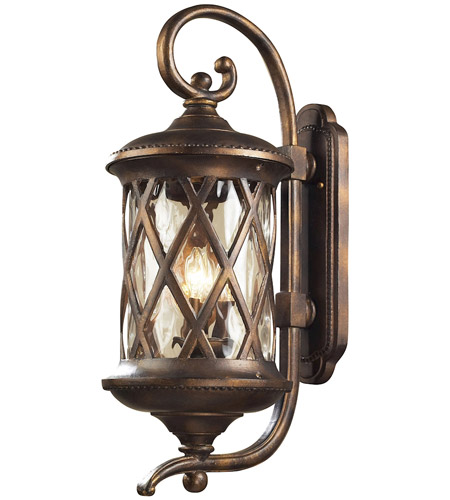 ELK Lighting Barrington Gate 3 Light Outdoor Sconce in Hazelnut Bronze 42032/3 photo