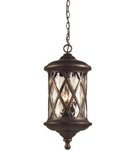 Hudson Valley Lighting Barrington: ELK Lighting Barrington Gate 3 Light Outdoor Pendant In