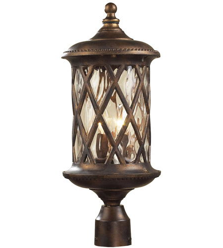 ELK Lighting Barrington Gate 2 Light Outdoor Post Light in Hazelnut Bronze 42034/2 photo