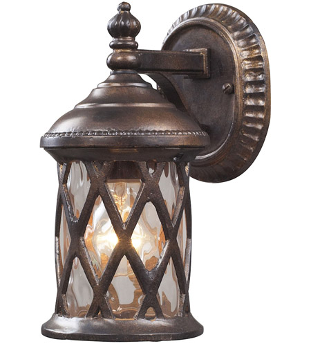ELK 42036/1 Barrington Gate 1 Light 10 inch Hazelnut Bronze Outdoor Sconce photo