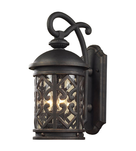 ELK 42062/3 Tuscany Coast 3 Light 22 inch Weathered Charcoal Outdoor Sconce photo