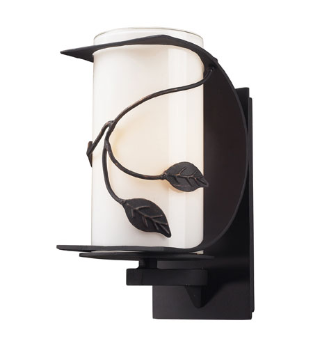 ELK Lighting Hedera 1 Light Outdoor Sconce in Weathered Charcoal 42070/1 photo
