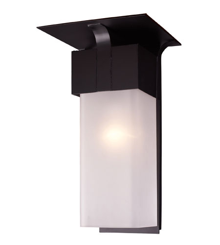 ELK Lighting Conti 1 Light Outdoor Sconce in Matte Black 42093/1 photo