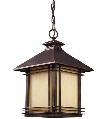 ELK Lighting Blackwell 1 Light Outdoor Pendant in Hazelnut Bronze 42103/1 photo