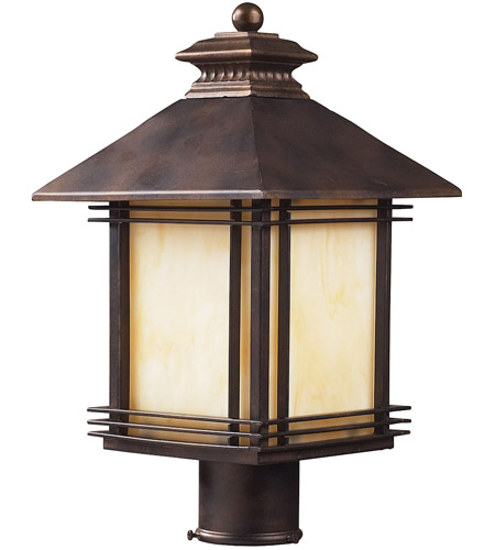 ELK Lighting Blackwell 1 Light Outdoor Post Light in Hazelnut Bronze 42104/1 photo