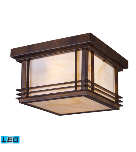 ELK Lighting Blackwell 2 Light Outdoor Flush Mount in Hazelnut Bronze 42106/2-LED photo