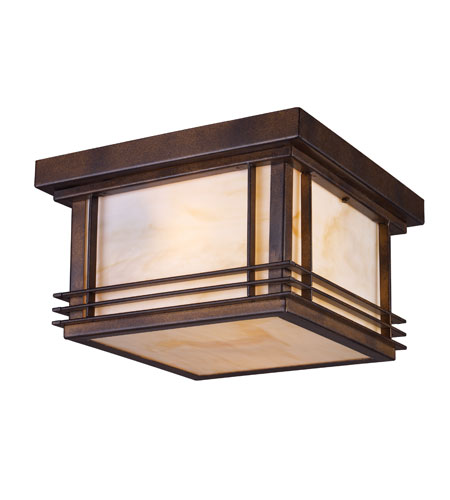 ELK Lighting Blackwell 2 Light Outdoor Flushmount in Hazelnut Bronze 42106/2 photo