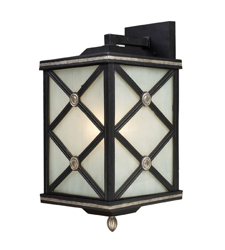 ELK Lighting Chaumont 1 Light Outdoor Sconce in Matte Black 42132/1 photo