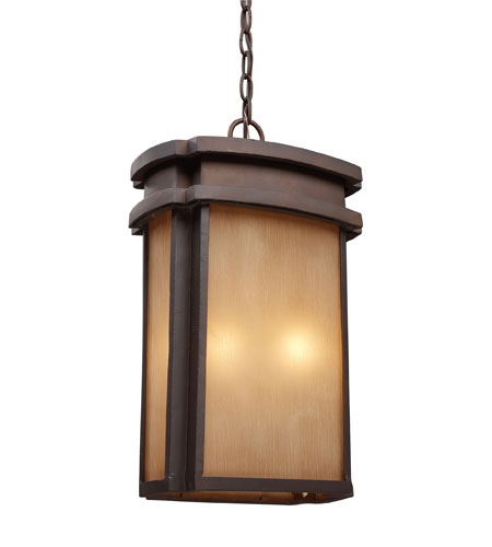 ELK Lighting Sedona 2 Light Outdoor Pendant in Clay Bronze 42143/2 photo