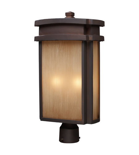 ELK Lighting Sedona 2 Light Outdoor Post Light in Clay Bronze 42144/2 photo