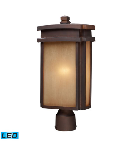 ELK Lighting Sedona 1 Light Outdoor Post Light in Clay Bronze 42145/1-LED photo
