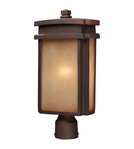 ELK Lighting Sedona 1 Light Outdoor Post Light in Clay Bronze 42145/1 photo