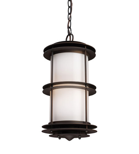 ELK Lighting Burbank 1 Light Outdoor Pendant in Clay Bronze 42153/1 photo