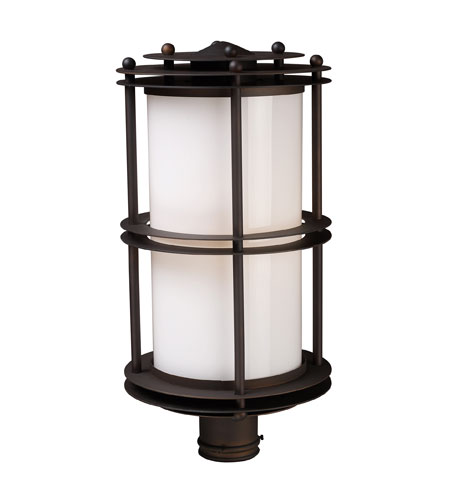 ELK Lighting Burbank 1 Light Outdoor Post Light in Clay Bronze 42155/1 photo