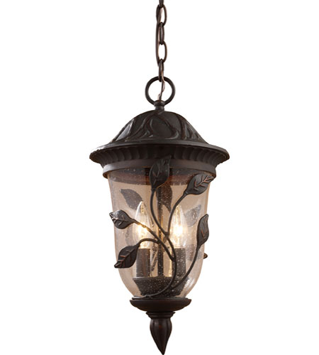 ELK Lighting Kimberton Ridge 2 Light Outdoor Pendant in Clay Bronze 42162/2 photo