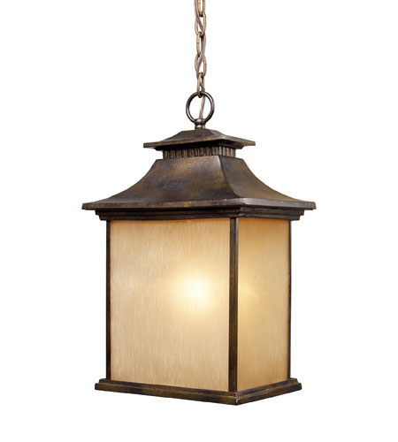 ELK 42183/1 San Gabriel 1 Light 11 inch Hazelnut Bronze Outdoor Pendant in Standard photo