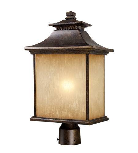 ELK Lighting San Gabriel 1 Light Outdoor Post Light in Hazelnut Bronze 42184/1 photo