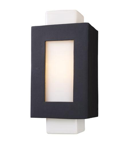 ELK Lighting Sundborn 1 Light Outdoor Sconce in Matte Black 42196/1 photo
