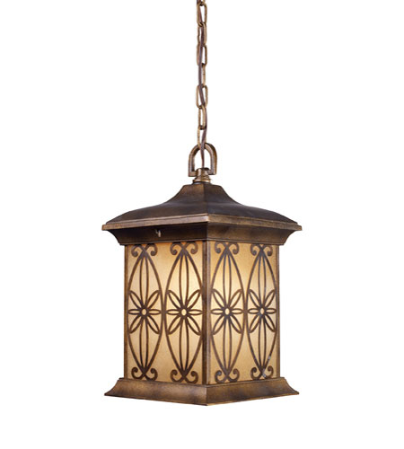 ELK Lighting Mission Hollow 1 Light Outdoor Pendant in Hazelnut Bronze 42203/1 photo