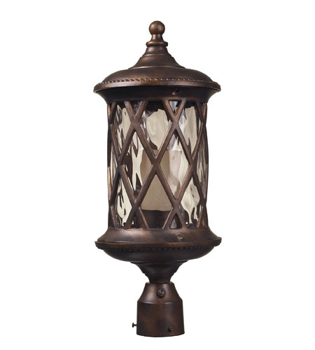 ELK Lighting Barrington Gate 1 Light Outdoor Post Light in Hazelnut Bronze 42234/1 photo