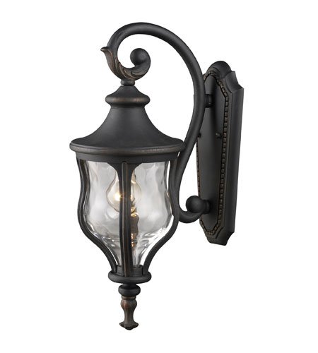 ELK Lighting Grand Aisle 1 Light Outdoor Sconce in Weathered Charcoal 42250/1 photo