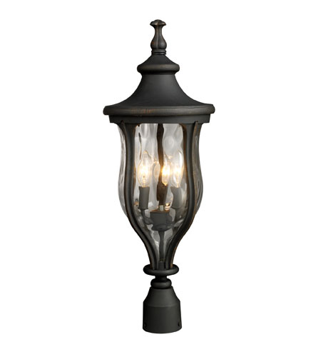 ELK Lighting Grand Aisle 3 Light Outdoor Post Light in Weathered Charcoal 42255/3 photo