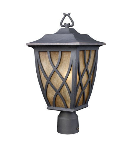 ELK Lighting Shelburne 1 Light Outdoor Post Light in Weathered Charcoal 42274/1 photo