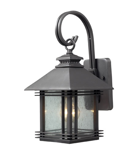 ELK Lighting Blackwell 1 Light Outdoor Sconce in Graphite 42300/1 photo