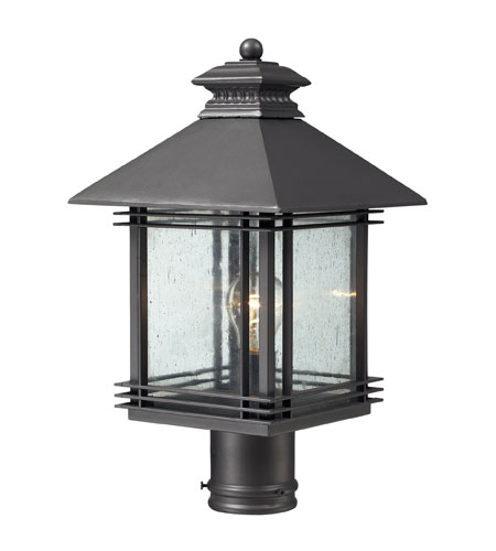 ELK Lighting Blackwell 1 Light Outdoor Post Light in Graphite 42304/1 photo