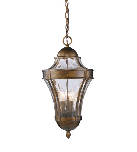 ELK Lighting Towson 3 Light Outdoor Pendant in Hazelnut Bronze 43014/3 photo
