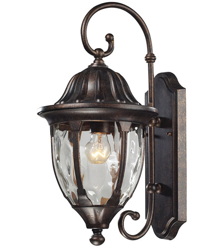 elk glendale 1 light 18 inch regal bronze outdoor wall sconce photo