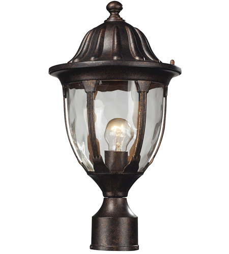ELK 45005/1 Glendale 1 Light 17 inch Regal Bronze Outdoor Post Light photo